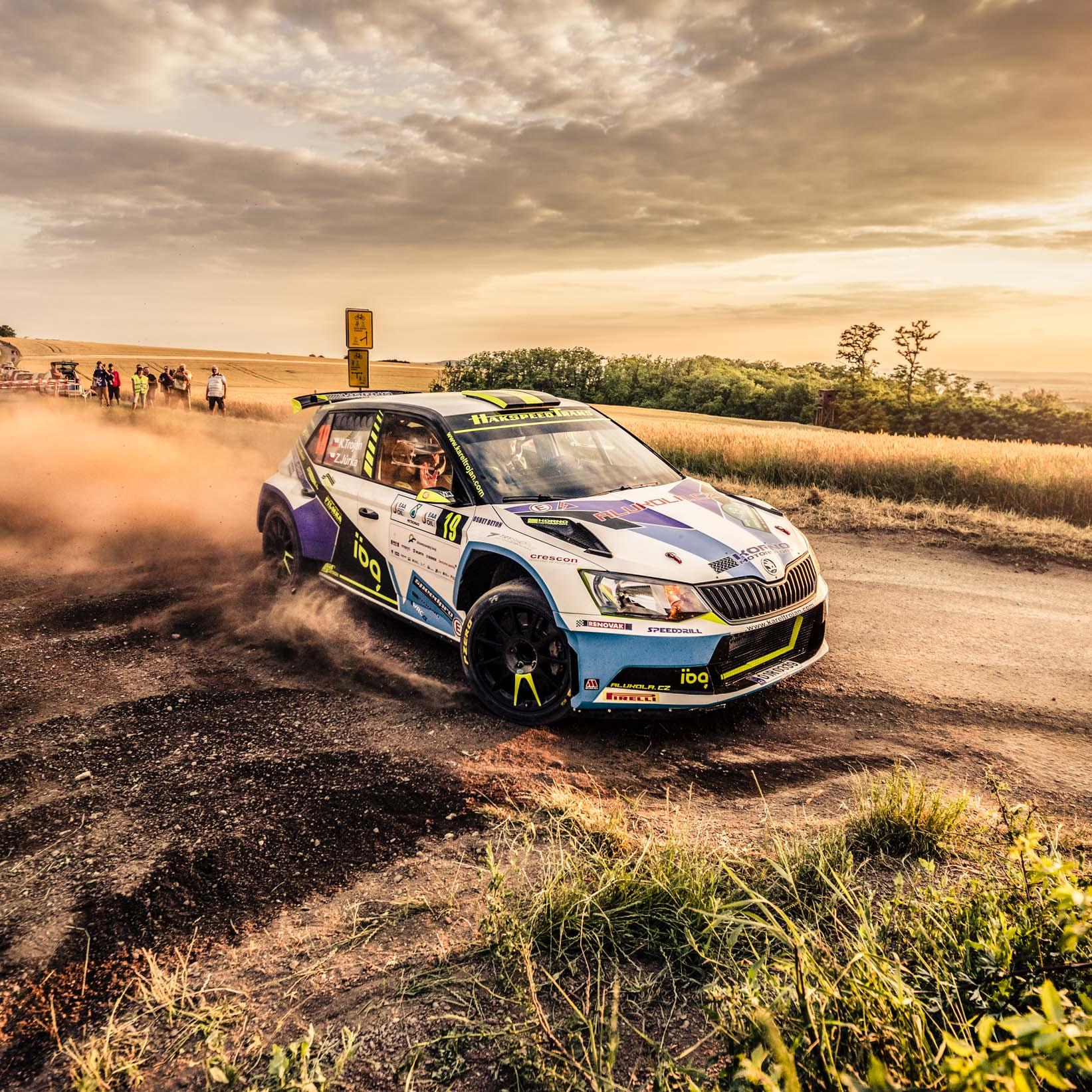 Rally Hustopeče s atraktivními šotolinovými úseky.