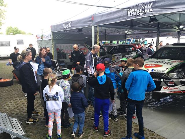 Rally dětem nebude chybět ani v Hustopečích.